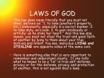 laws of god31