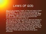 laws of god47