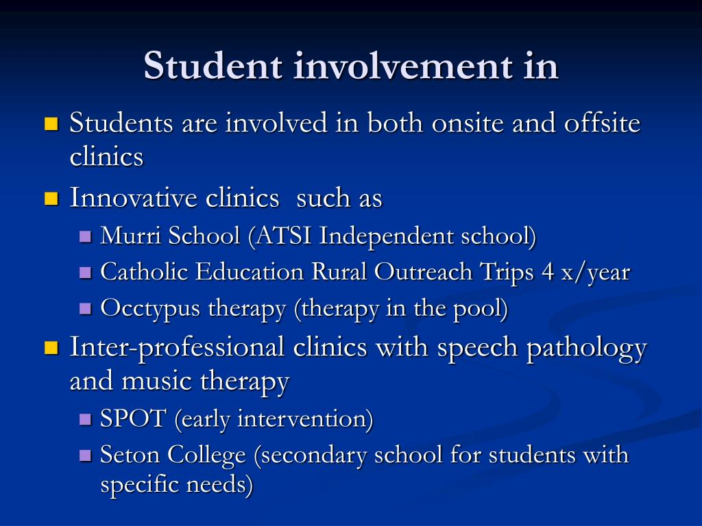 Student involvement in