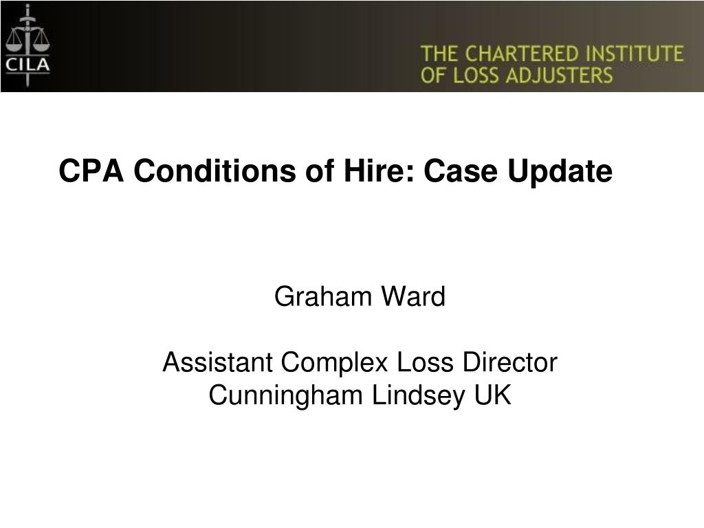 cpa conditions of hire case update l.