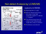 non detect analysis by lc ms ms