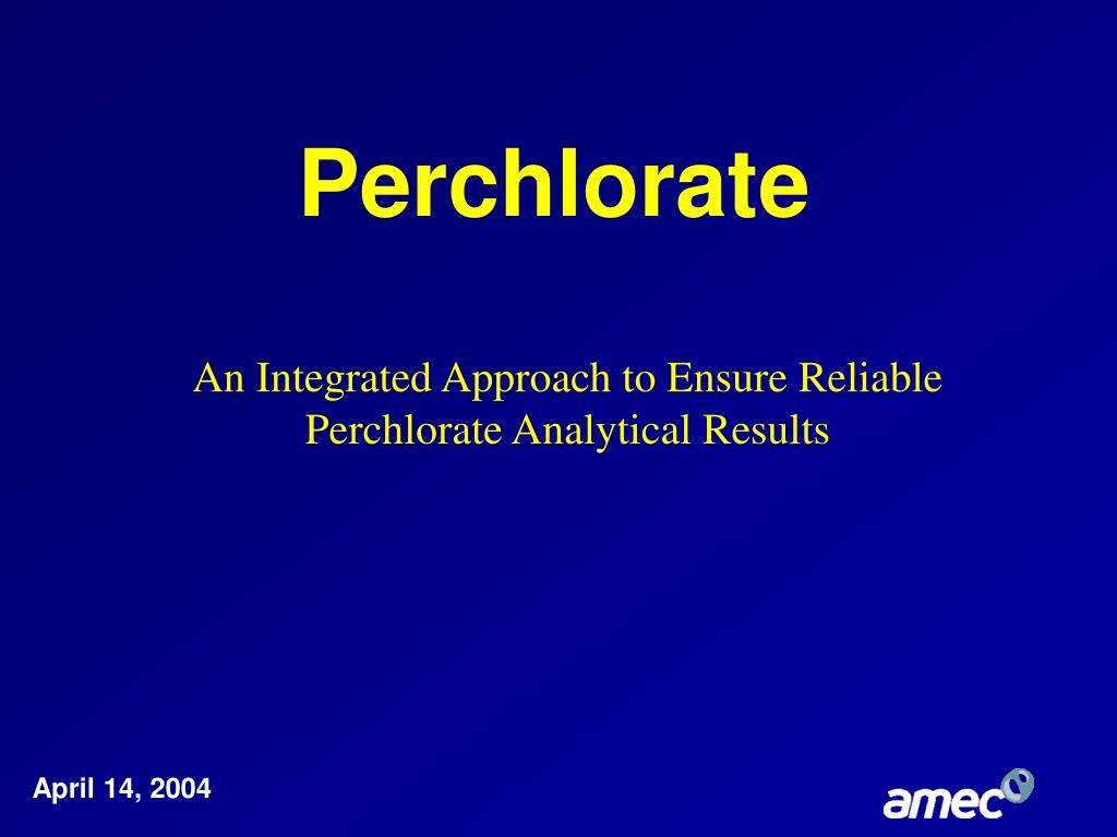 perchlorate