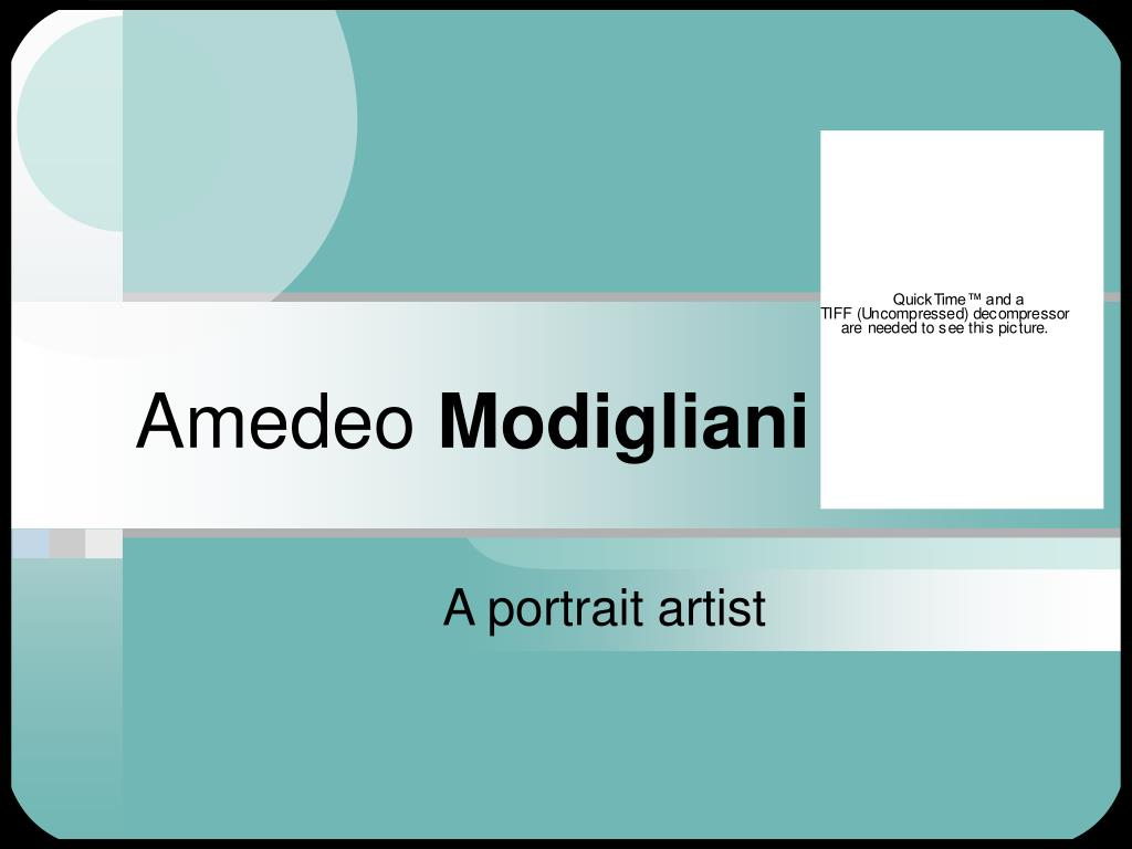 amedeo modigliani l.