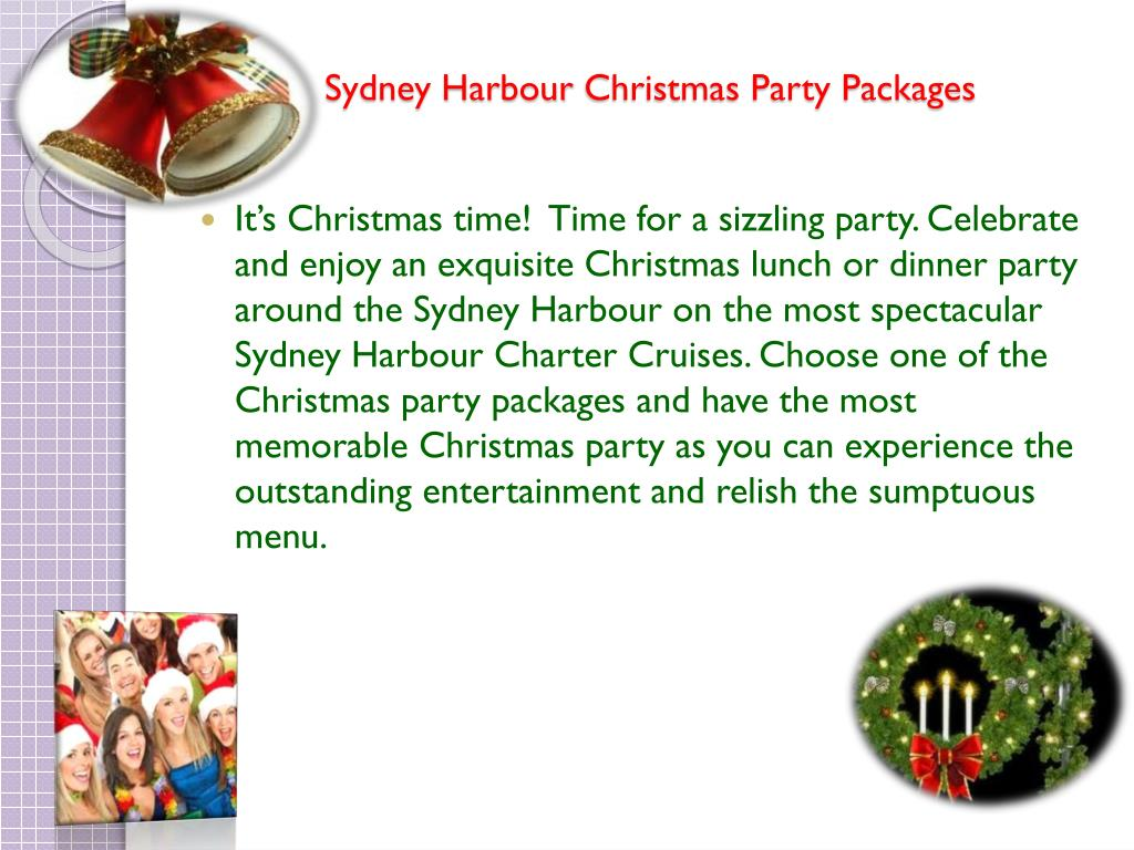 sydney harbour christmas party packages l.
