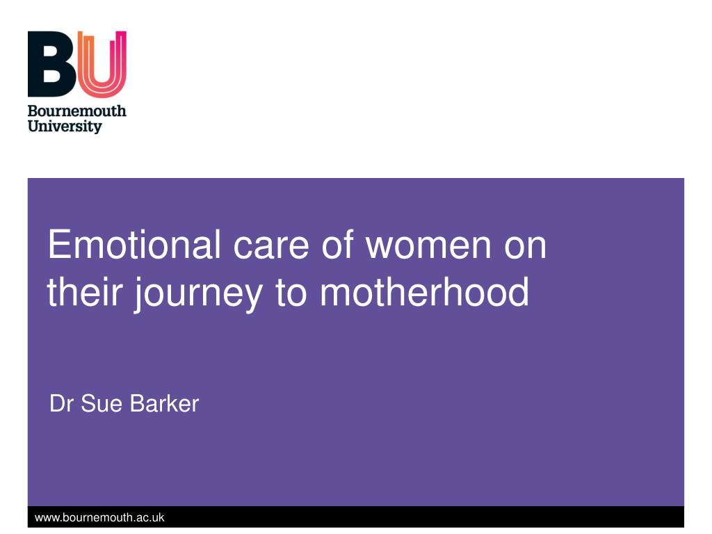emotional care of women on their journey to motherhood l.