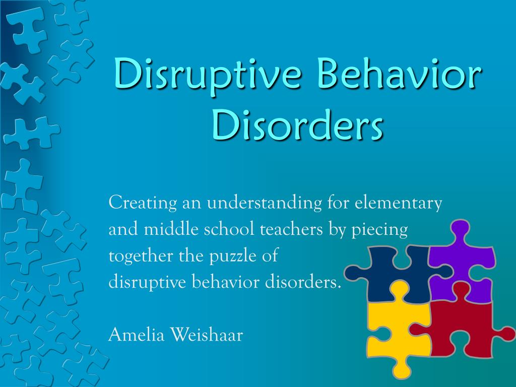 disruptive behavior disorders l.