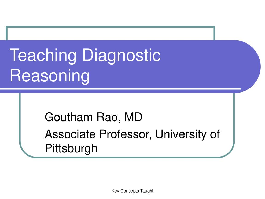 teaching diagnostic reasoning l.