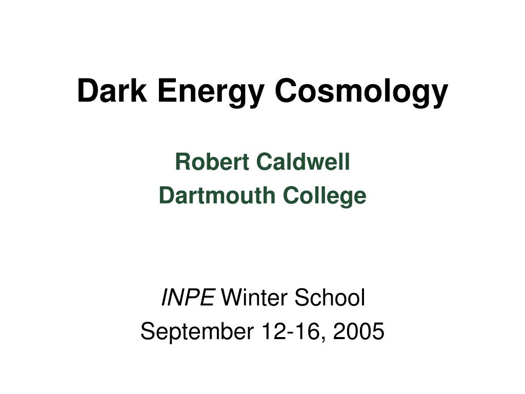 dark energy cosmology l.