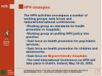 hph strategies