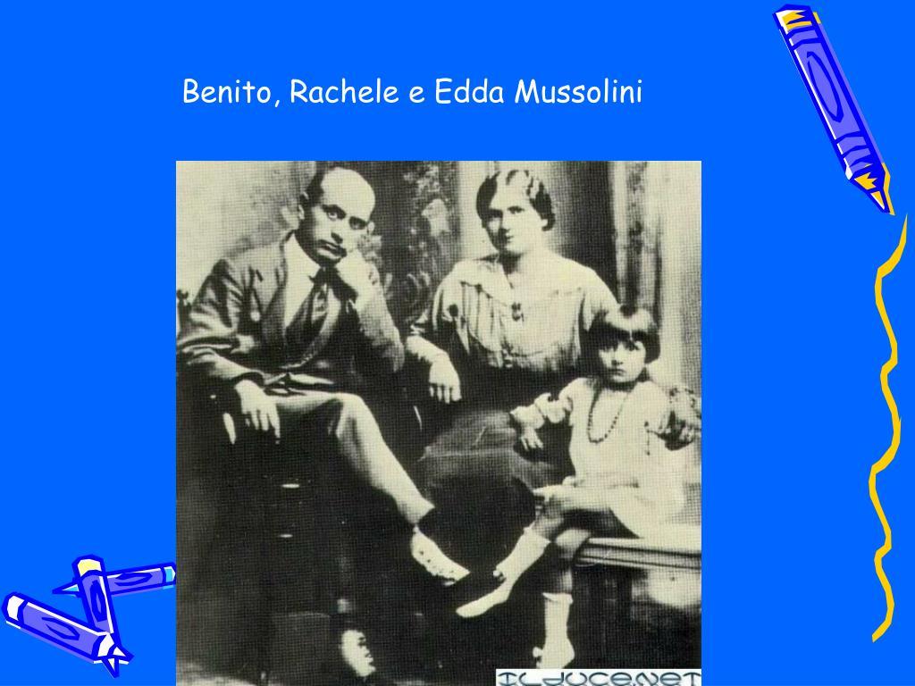 Benito, Rachele e Edda Mussolini