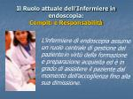 il ruolo attuale dell infermiere in endoscopia compiti e responsabilit