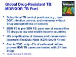 global drug resistant tb mdr xdr tb fuel