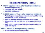 treatment history cont
