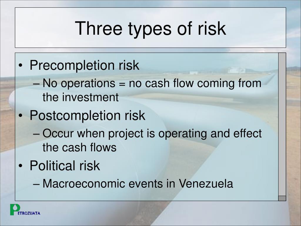 Three types of risk