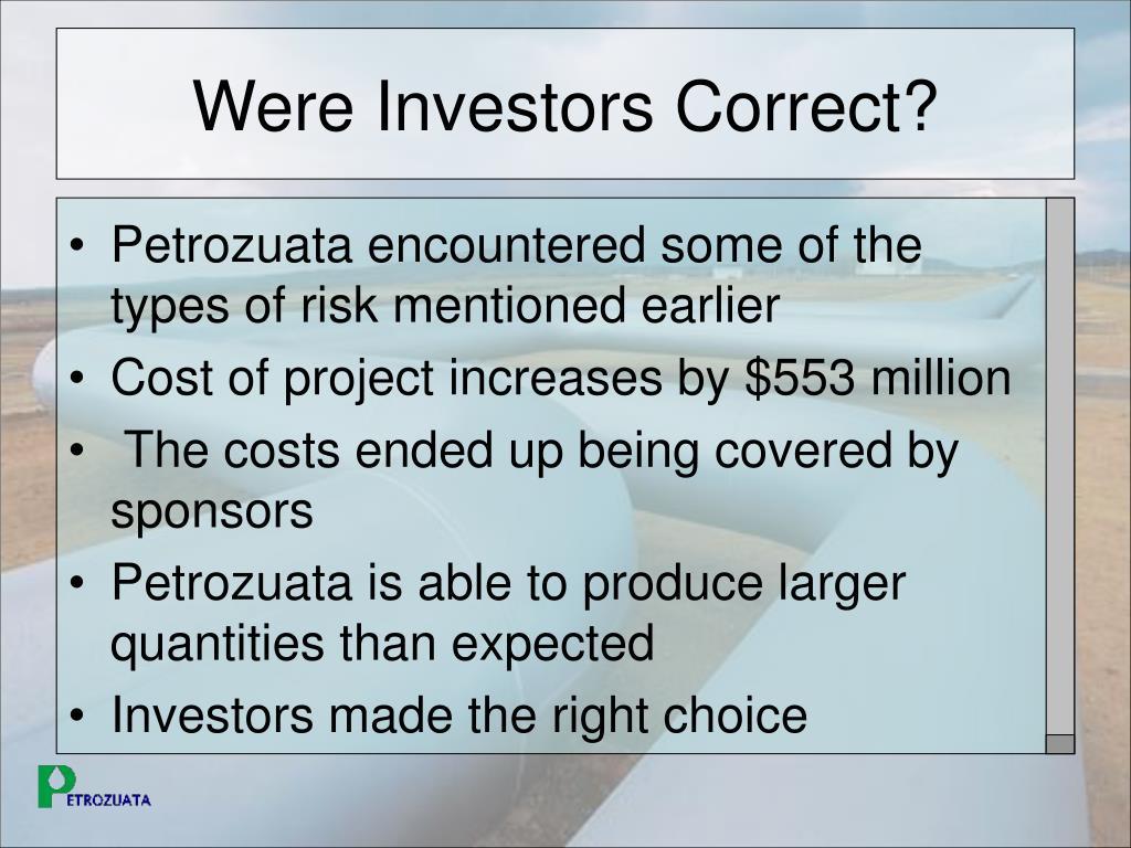 Were Investors Correct?