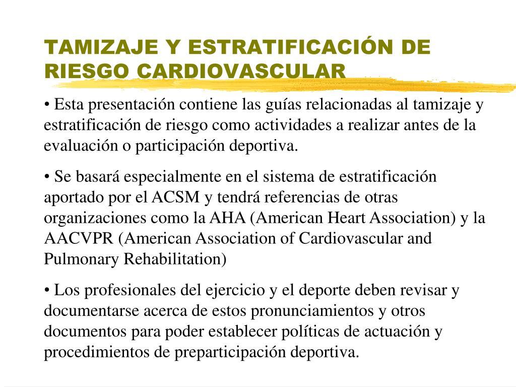 tamizaje y estratificaci n de riesgo cardiovascular l.