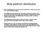 multi platform distribution