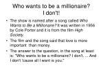 who wants to be a millionaire i don t