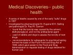 medical discoveries public health