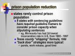 prison population reduction