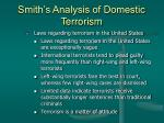 smith s analysis of domestic terrorism25
