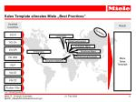 sales template allocates miele best practices