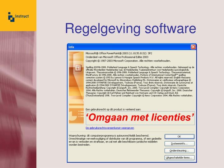 regelgeving software n.