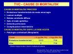 tvc cause di mortalita