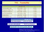 tvc trombofilia