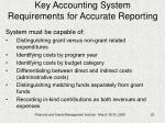 key accounting system requirements for accurate reporting