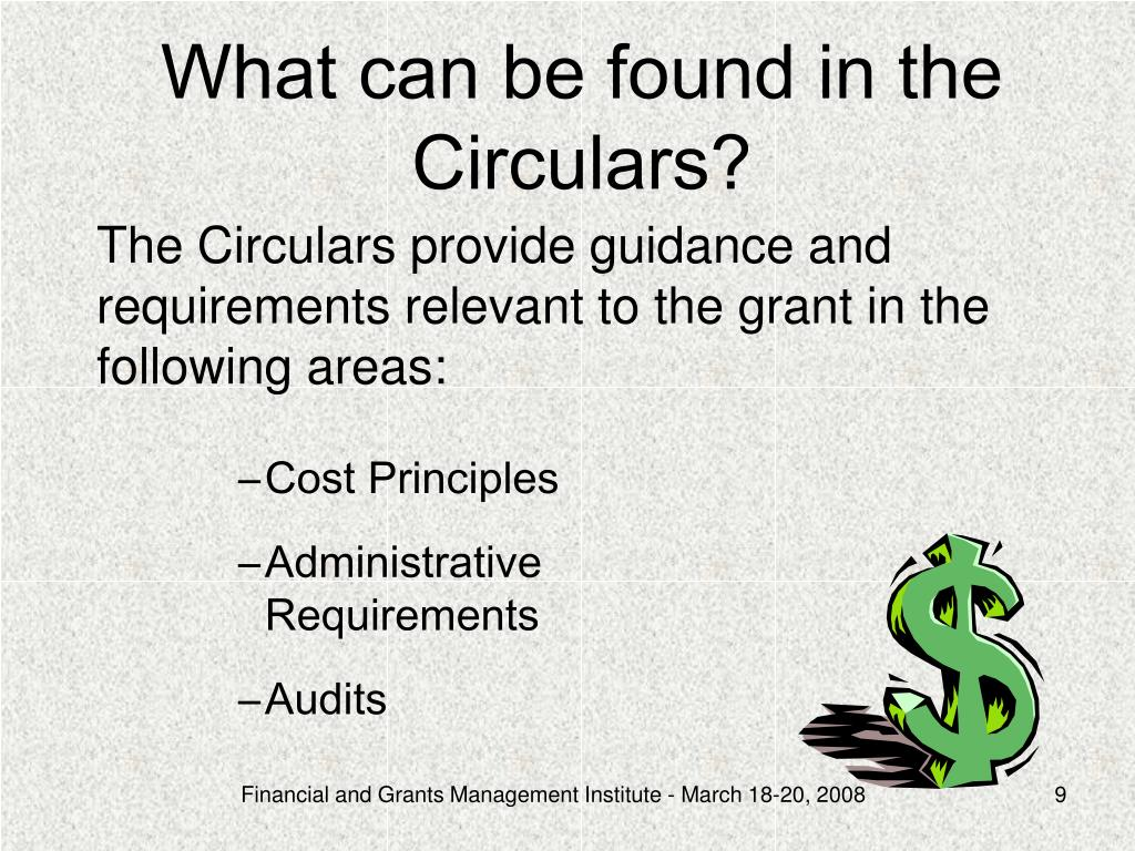 What can be found in the Circulars?