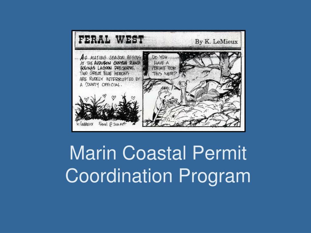 marin coastal permit coordination program l.