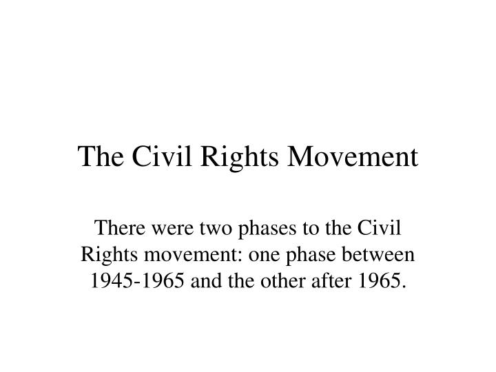 individual sections within the black civil rights movement There are notable differences between the civil rights movement and black lives matter, including approaches to protests and grass-roots organizing some 1960s activists have significant.