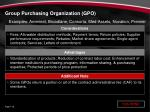 group purchasing organization gpo