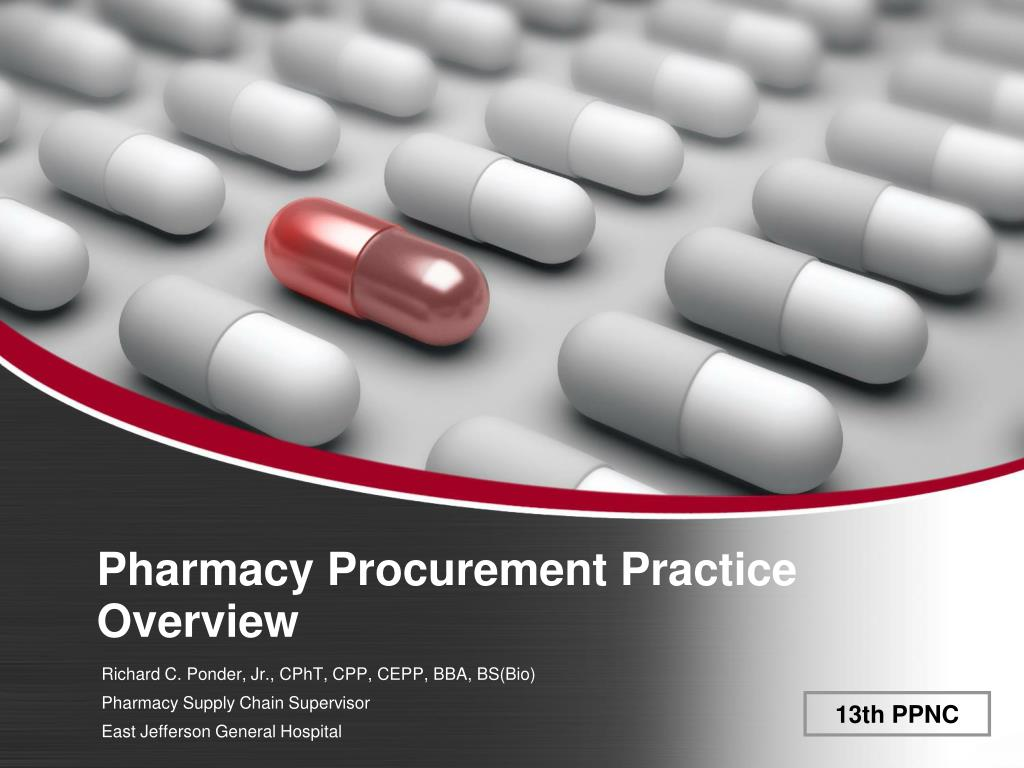 pharmacy procurement practice overview l.