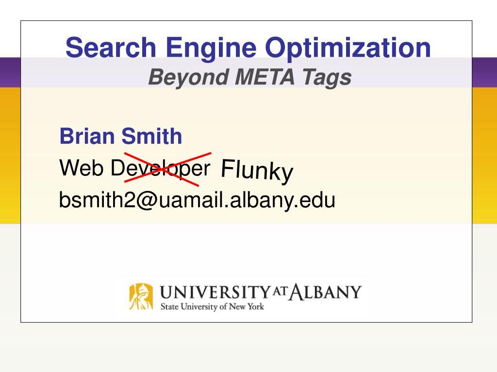 search engine optimization beyond meta tags l.