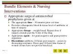 bundle elements nursing interventions42