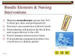 bundle elements nursing interventions44