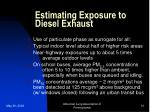 estimating exposure to diesel exhaust