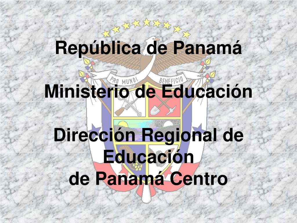 rep blica de panam ministerio de educaci n direcci n regional de educaci n de panam centro l.