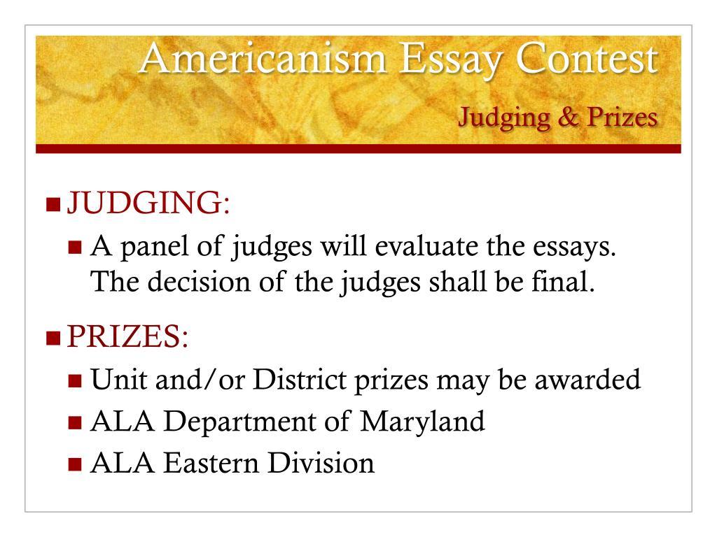 americanism essay contest win