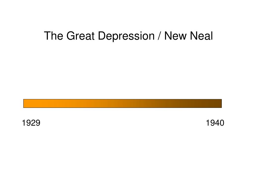 the great depression new neal l.