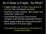 so a state is fragile so what