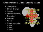unconventional global security issues