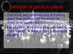 definition of political culture