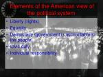 elements of the american view of the political system