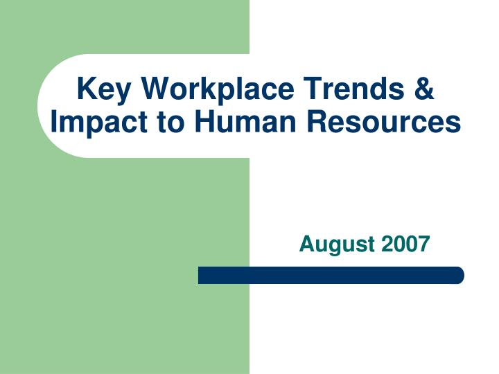 key workplace trends impact to human resources n.