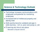 science technology outlook