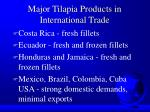 major tilapia products in international trade