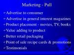 marketing pull